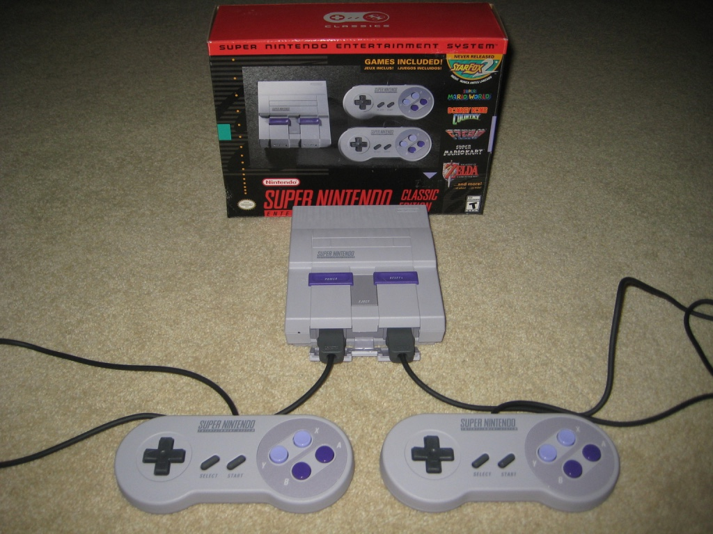 Super Nintendo Classic box back