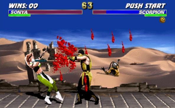 لعبة القتال الرهيبة ultimate mortal kombat بمساحة ميجا