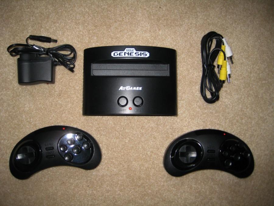 Atgames sega genesis classic game console deluxe version - Sega genesis classic console with 80 built in games ...