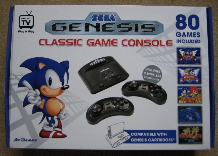 arcade classic sega genesis game console
